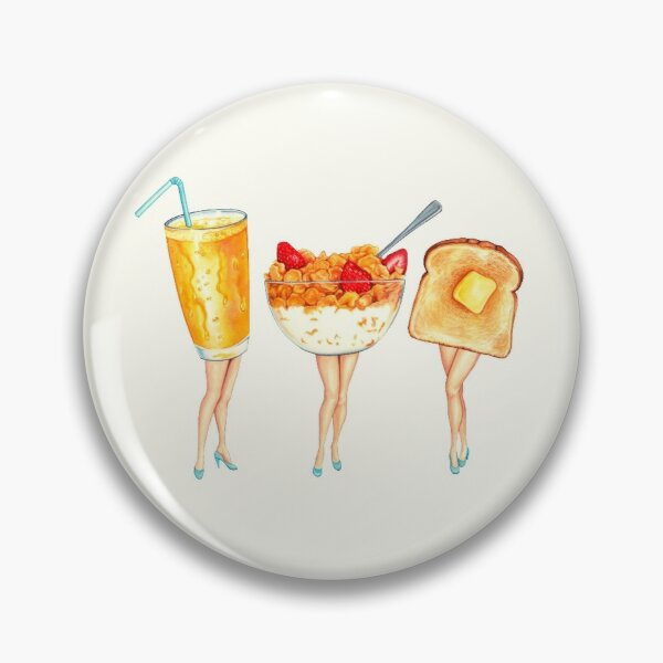 Breakfast Pin-Ups Pin