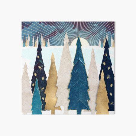 Winter Trees Art Board Print