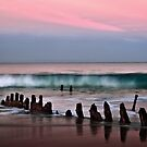 Sunset at Dickie Beach Wreck by amko