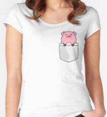 Pocket Waddles Women's Fitted Scoop T-Shirt