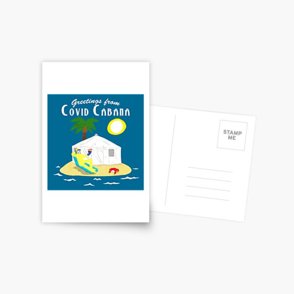 Covid Cabana Postcard