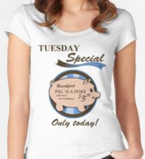 Supernatural - Pig 'n a poke Women's Fitted Scoop T-Shirt