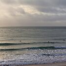 Winter Surfers Praa sands by Brian Roscorla