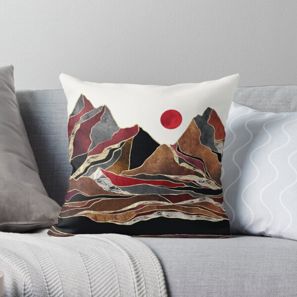 Copper Vista Throw Pillow