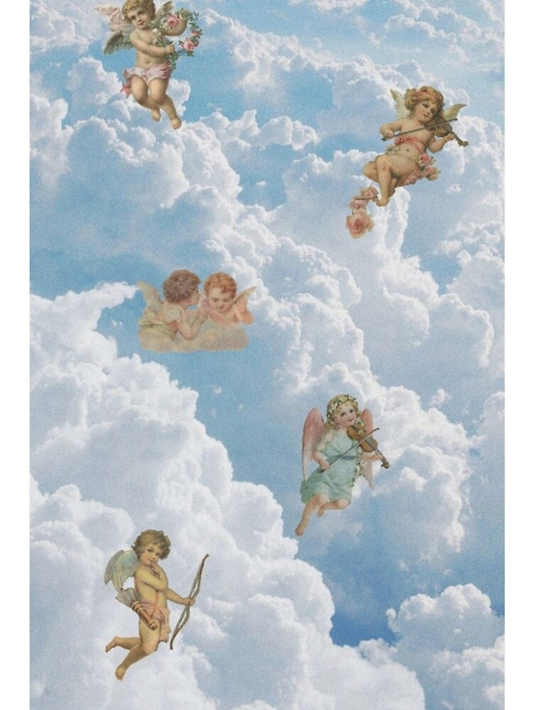 Renaissance angels in sky Cherubs Cupid Art Iphone Case by Onodera