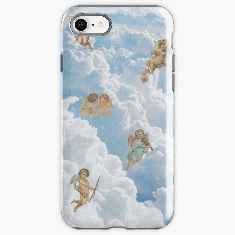 Renaissance angels in sky Cherubs Cupid Art Iphone Case iPhone Case & Cover