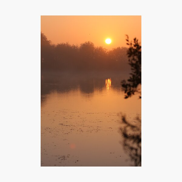 Dawn in the fens Photographic Print