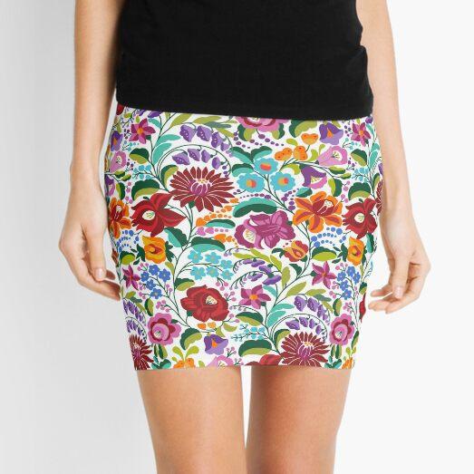 Hungarian ethnic kalocsai embroidery pattern Mini Skirt