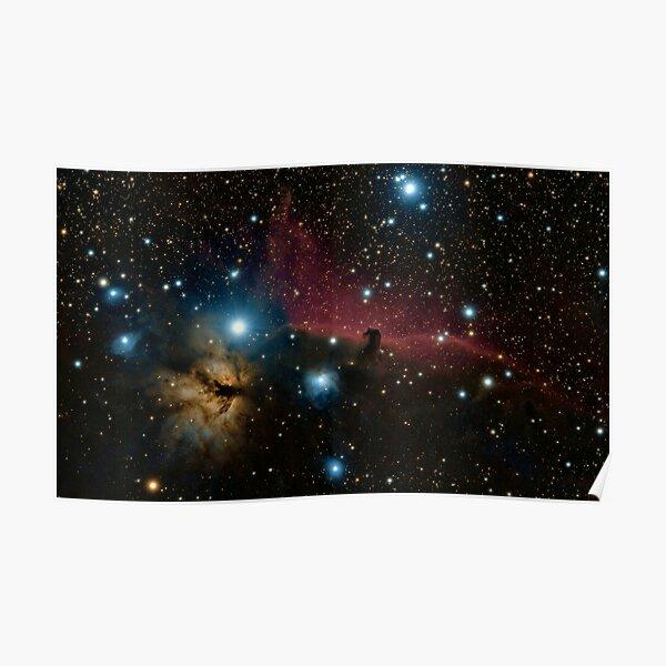 Glitter Star Galaxy  Poster