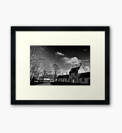 Great Linford Mono Framed Print