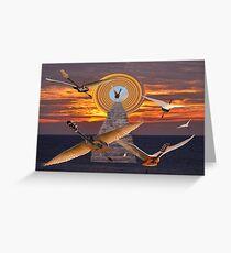 FLIGHT OF THE GUITARS Greeting Card