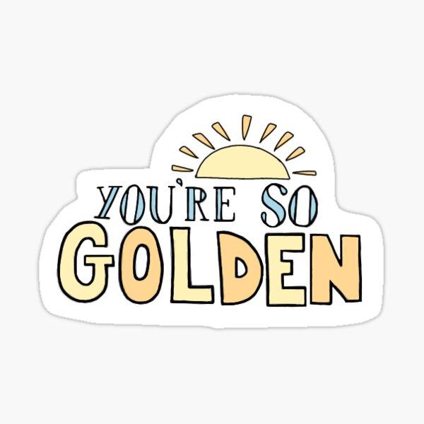 Eres tan dorado etiqueta de la letra de Harry Styles Pegatina