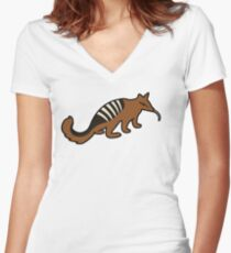 Cute Numbat Women's Fitted V-Neck T-Shirt