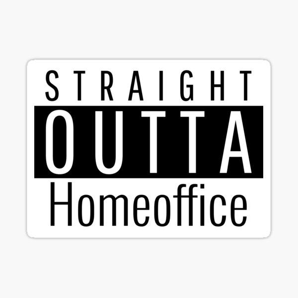 Funny homeoffice Sticker