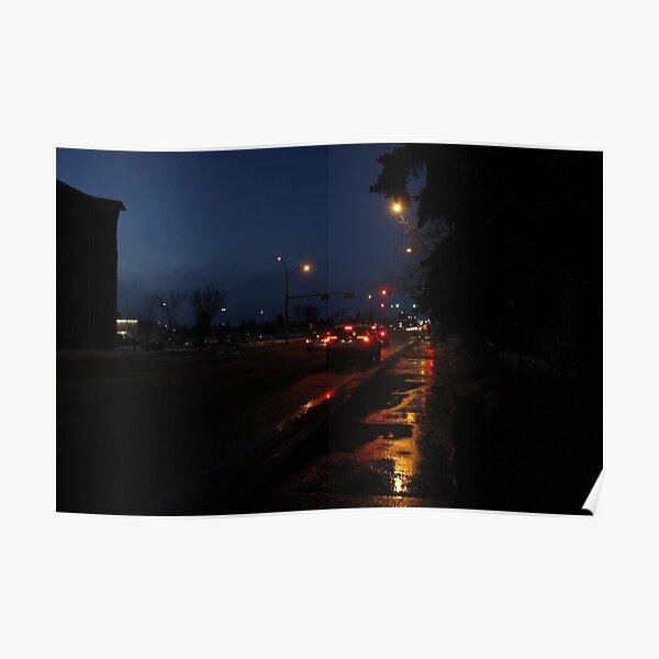 Urban Nightlife Photography Poster
