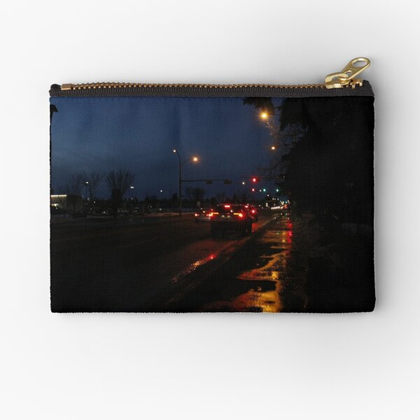 Urban Nightlife Photography Zipper Pouch