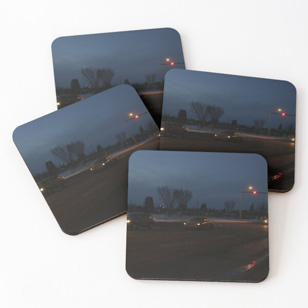Urban Traffic at Night Coasters (Set of 4)