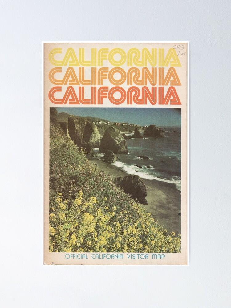 Alternate view of Vintage California Travel Guide Poster