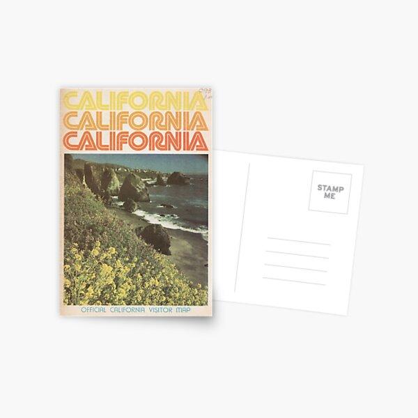Vintage California Travel Guide Postcard