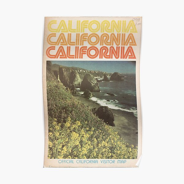 Vintage California Travel Guide Poster