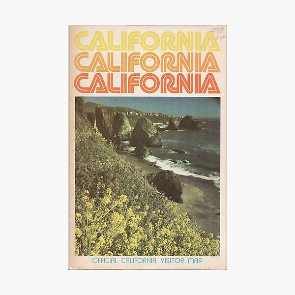 Vintage California Travel Guide Photographic Print