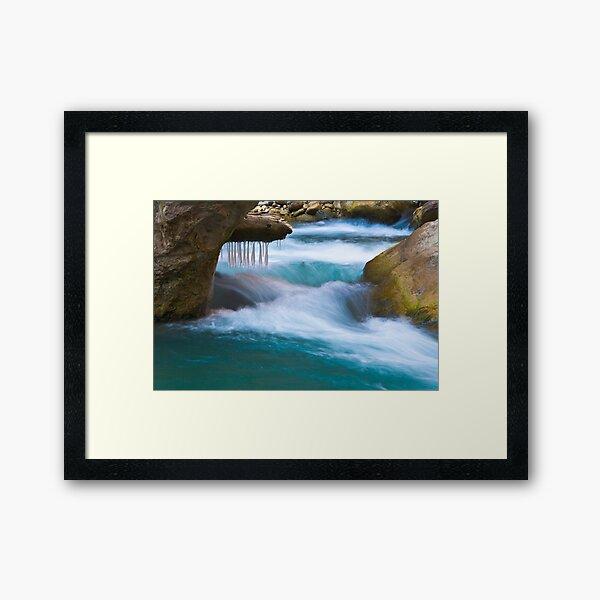 Icey Virgin River Framed Art Print