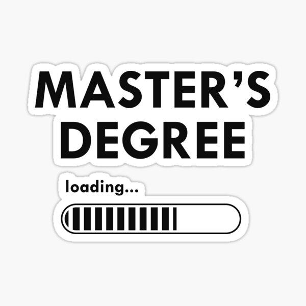 Master's Degree Loading Sticker