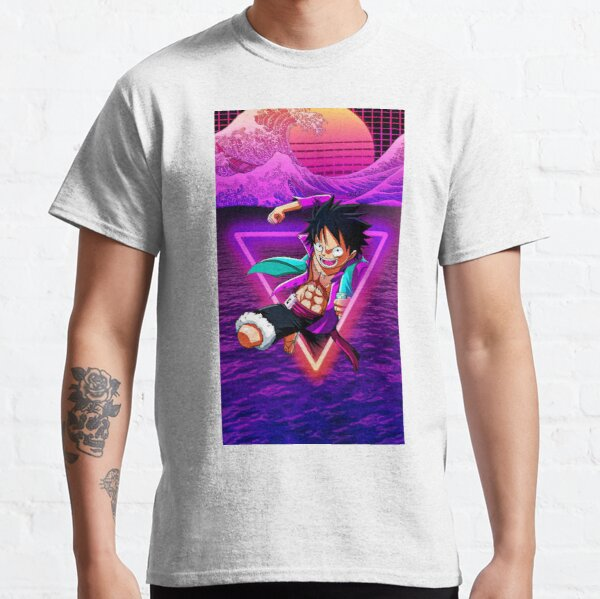 Luffy Vaporwave - One Piece T-shirt classique
