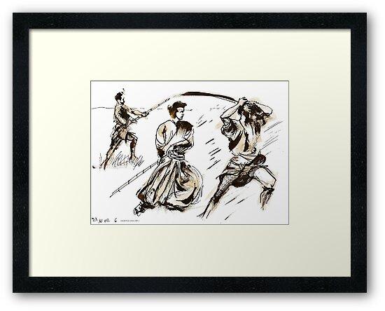The 7 Samurai A Sketch by ivDAnu