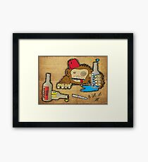 Too much of a good thing... Framed Print