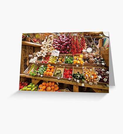 Vegetable Display Greeting Card