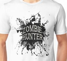 Zombie Hunter black grunge Unisex T-Shirt