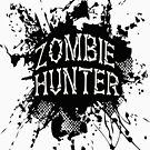 Zombie Hunter black grunge by thatstickerguy