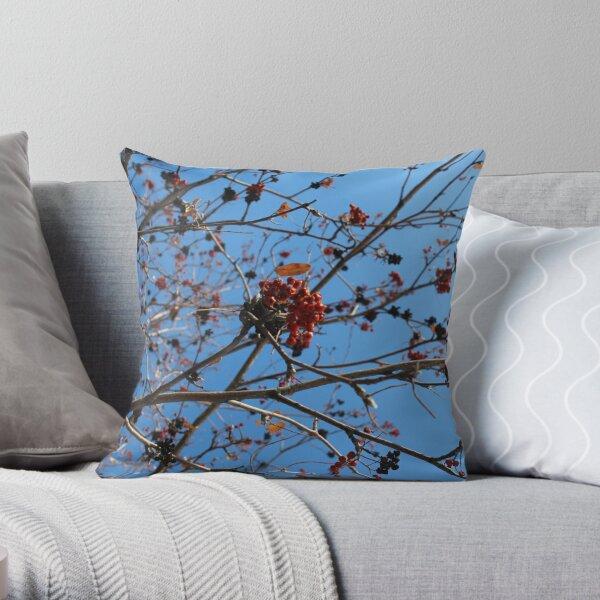 Berries in Winter Throw Pillow