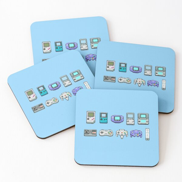 Nintendo Consoles  Coasters (Set of 4)