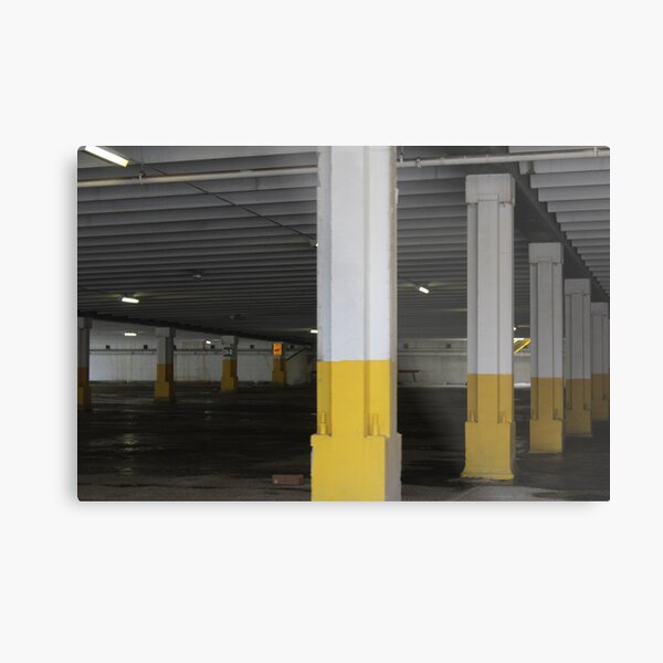 Empty Mall Parking Lot Metal Print