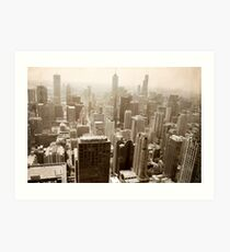 Overlooking Chicago Art Print