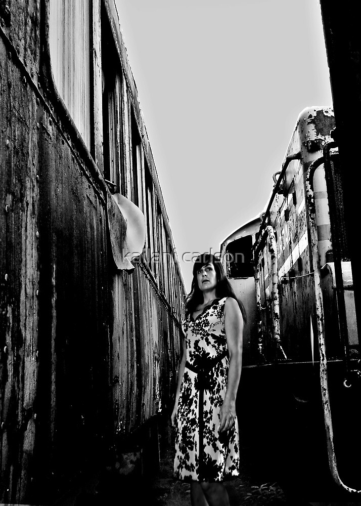 Self Portrait, Abandoned Train by kailani carlson
