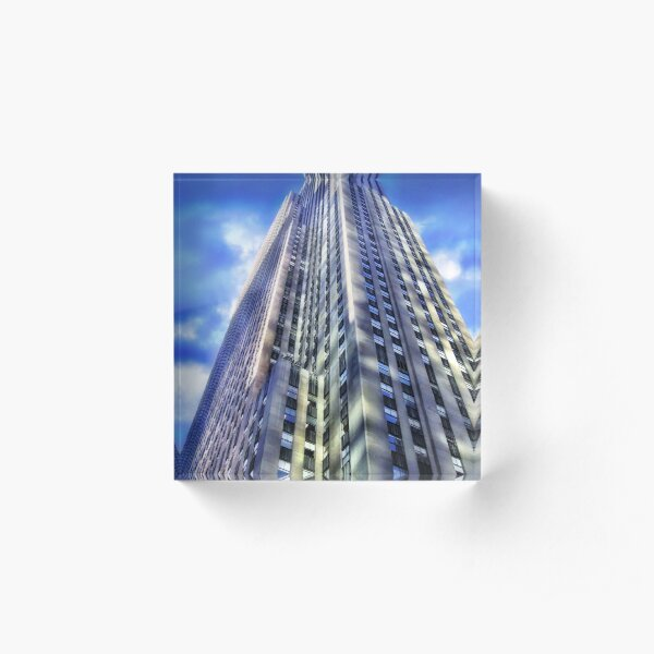 New York - Rockefeller Center Acrylic Block