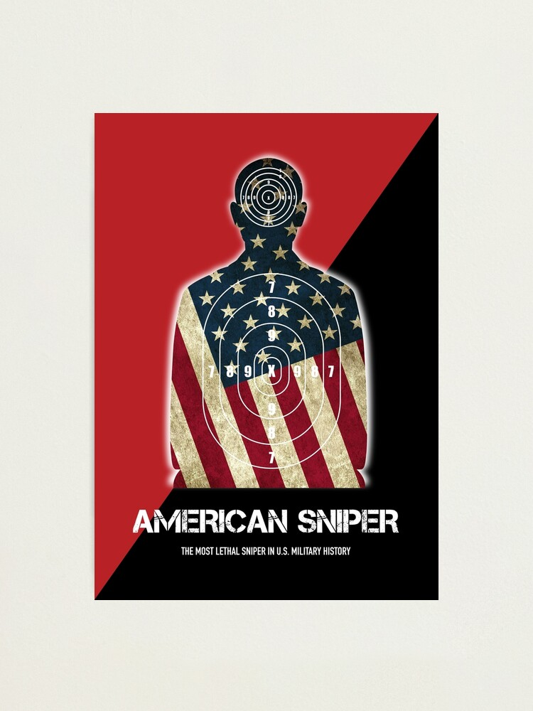 Alternate view of American Sniper - Alternative Movie Poster Photographic Print