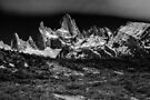 Mt Fitzroy #1  Monochrome by Peter Hammer