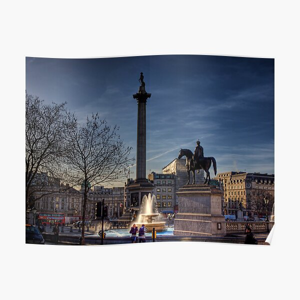 Trafalgar square in the morning 2 Poster