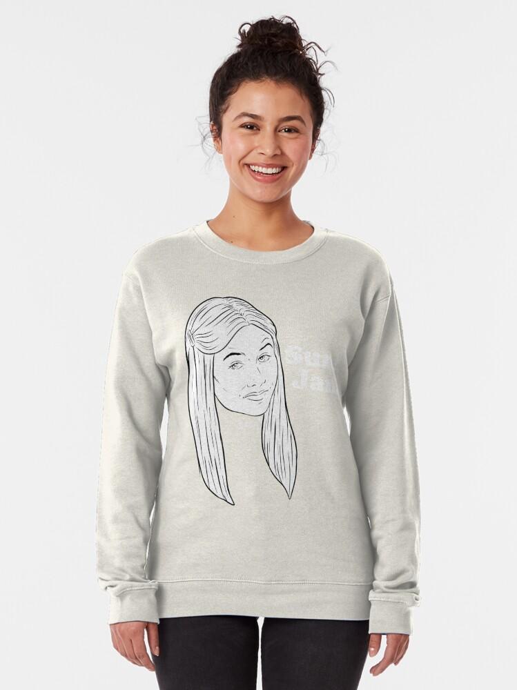 Alternate view of Sure, Jan. - black & white Pullover Sweatshirt