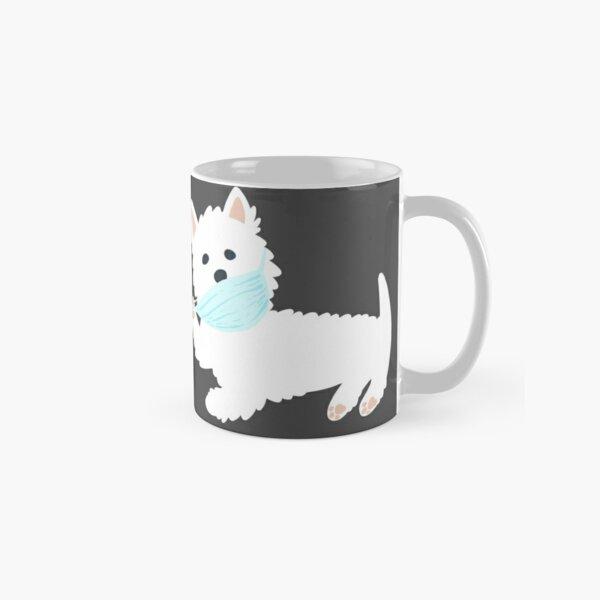 Self isolating Westie pup  Classic Mug