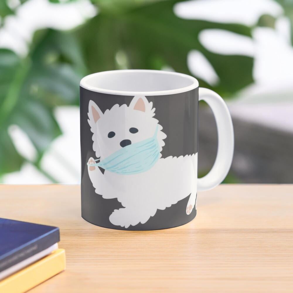 Self isolating Westie pup  Mug