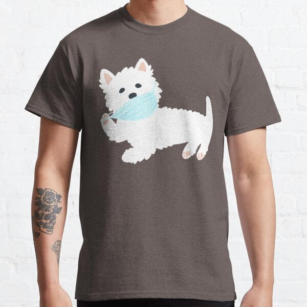 Self isolating Westie pup  Classic T-Shirt