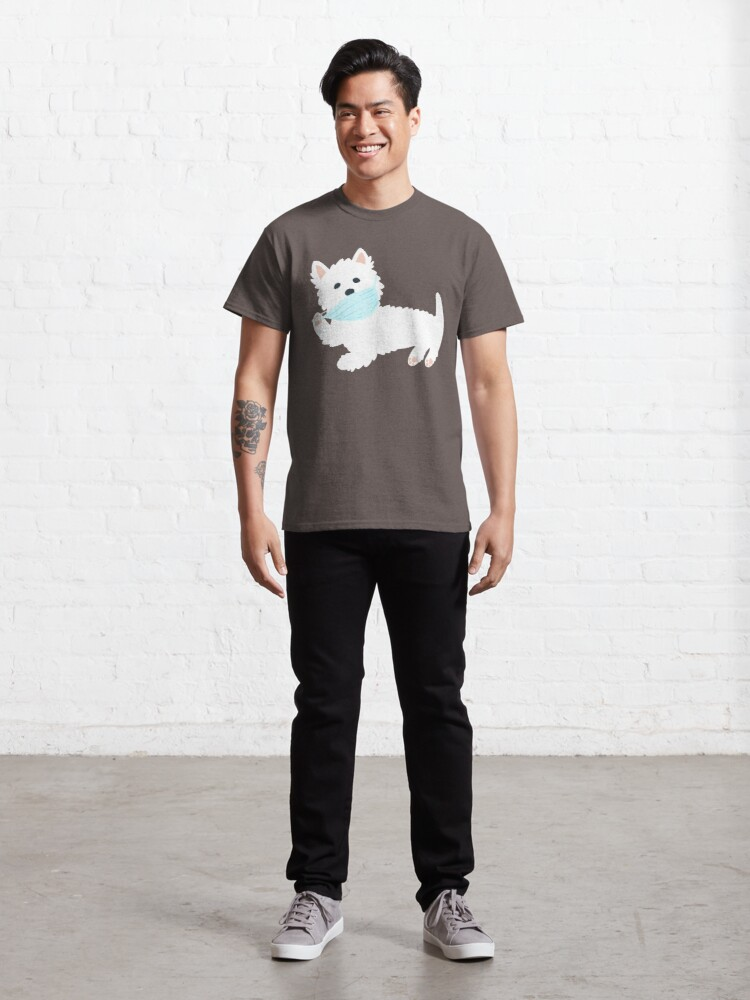 Alternate view of Self isolating Westie pup  Classic T-Shirt