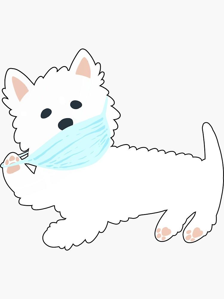 Self isolating Westie pup  by mirunasfia