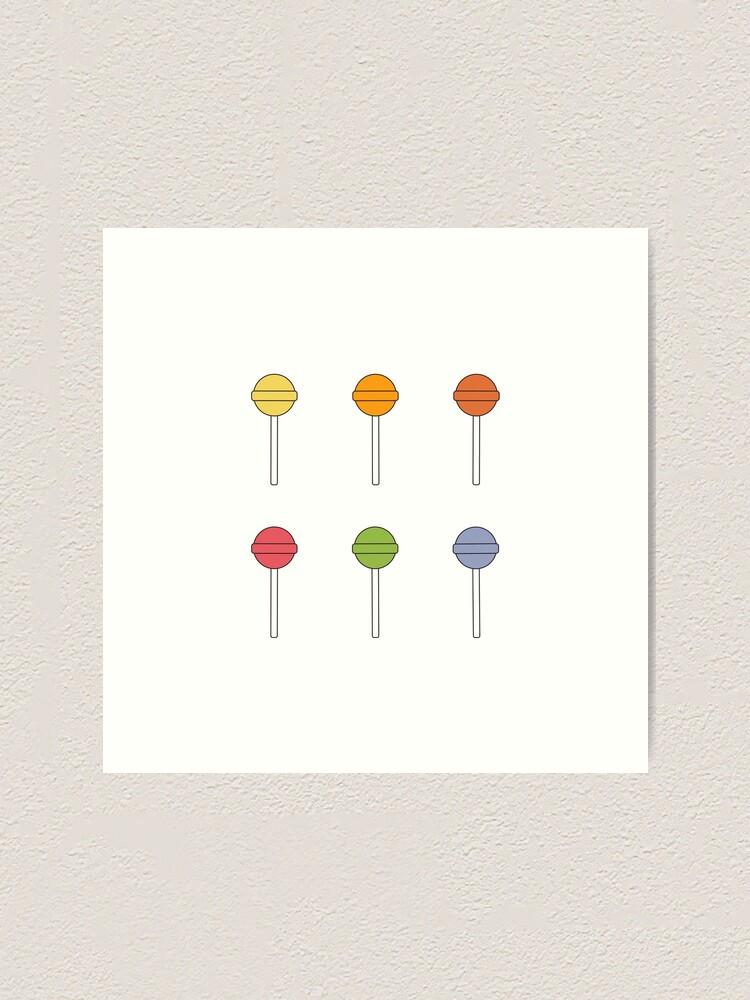 Alternate view of Happy Lollipop Sugar Candy Art Print