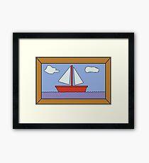 Sail Boat Artwork Framed Print